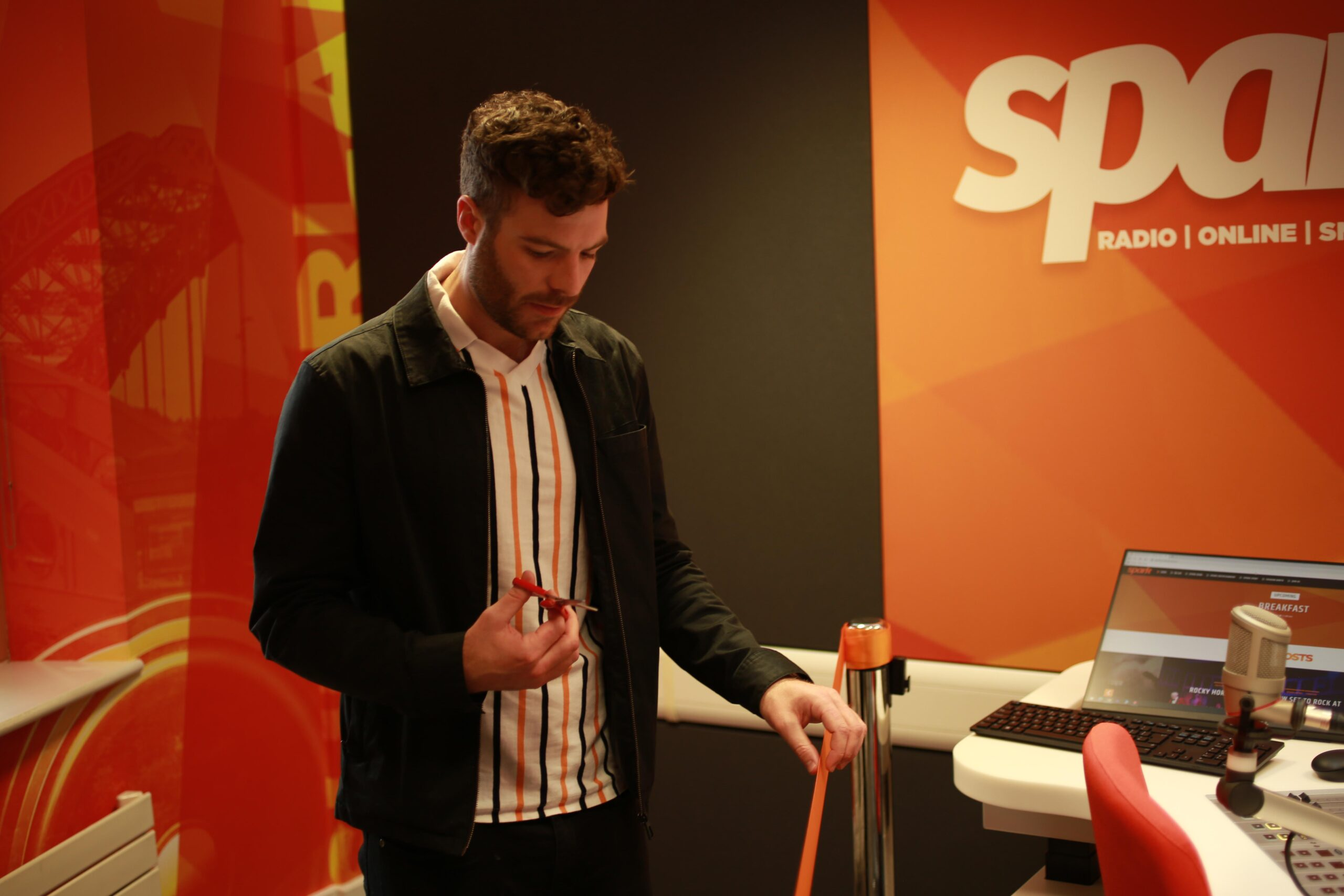 Jordan heads North to officially open Spark Radio's new studio
